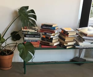 books, design, and plants image