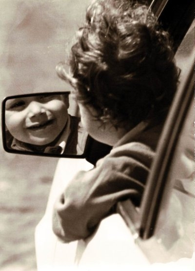 kid, mirror, and old image