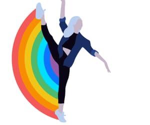 arcoiris, danza, and gif image