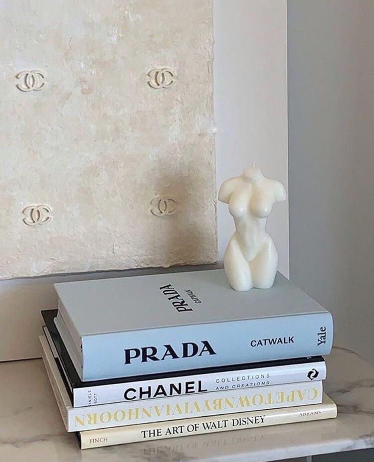 Prada, books, and chanel image