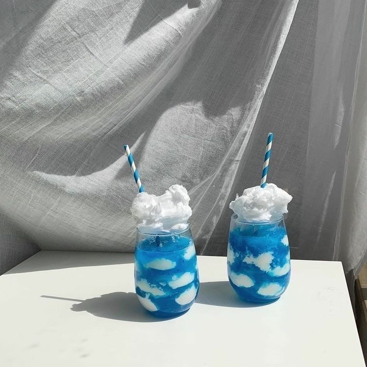 blue, drink, and clouds image