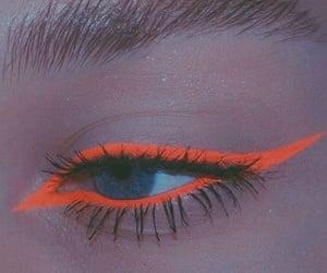 eyeliner, neon, and makeup image