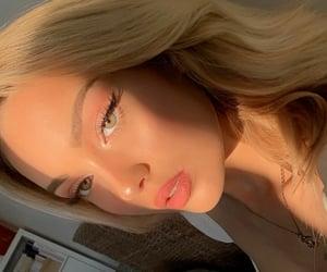beautiful, eyebrows, and selfie image