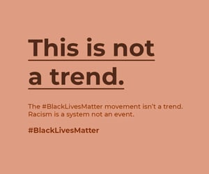 enough is enough, blm, and this is not a trend image