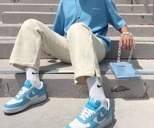 aesthetic, blue, and nike image