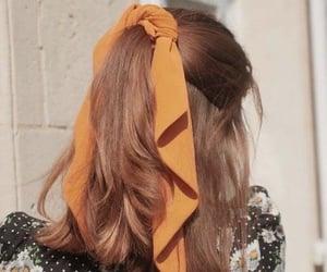 hairstyle and orange image