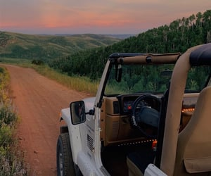 jeep, sunset, and view image