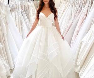 wedding dress and bride image