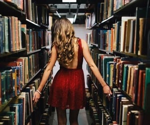 bibliophile, girl, and books image