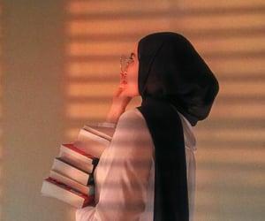 hijab, muslim girl, and urdu image