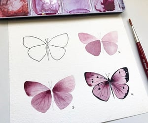 art, butterfly, and creative image