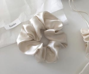 white, aesthetic, and scrunchie image