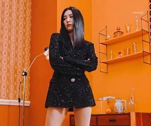 korean girl, kpop, and orange image