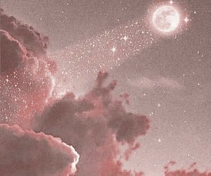 pink, moon, and aesthetic image