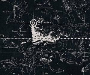aries, constellation, and map image