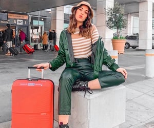 airport, Athens, and clothes image