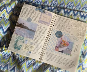 aesthetic, soft blue, and bujo image