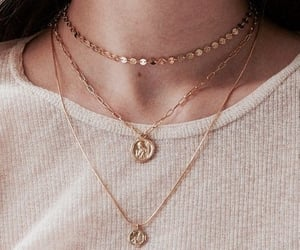 necklace, gold, and accessories image