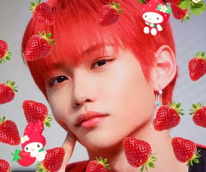 felix, messy, and strawberry image