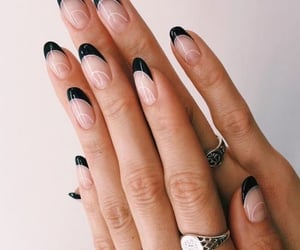 nails, aesthetic, and black image