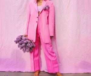 blazer, flowers, and oversize image