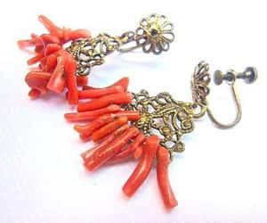 etsy, filigree, and coral earrings image