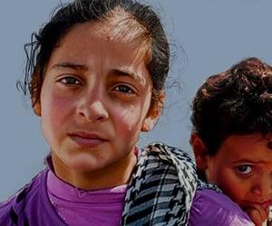 refugees, sad, and syria image