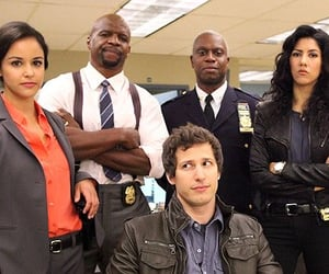 jake peralta, amy santiago, and captain holt image