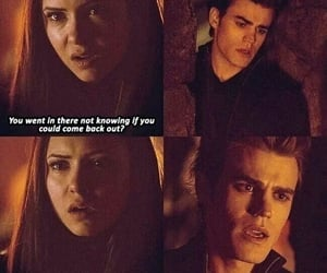 the vampire diaries, stefan and elena, and love image