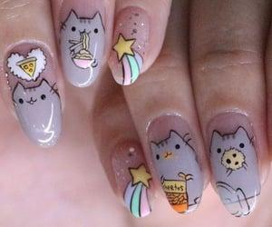 cat, kawaii, and nails image