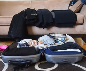 luggage, packing, and travel image