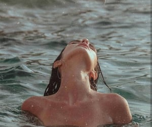girl, water, and sea image