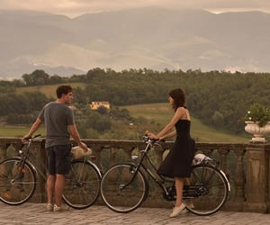 love, couple, and bicycle image