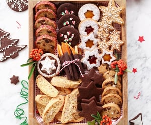 christmas, cookie, and cup cake image