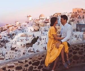 beautiful, santorini, and travel image