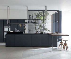 How to Decorate Your Mid-Century Kitchen with Blue Cabinets?