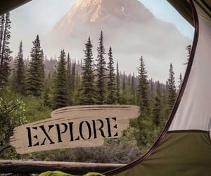 August, camping, and nature image