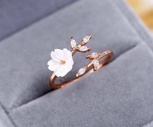 flower, ring, and fashion image