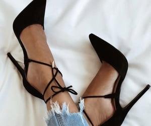 black, fancy, and heels image