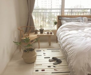 apartment, bed, and bedroom image