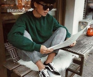 checkered, jumper, and style image