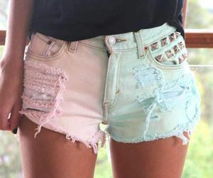 shorts, pink, and summer image
