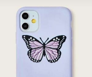 butterfly, iphone, and lila image