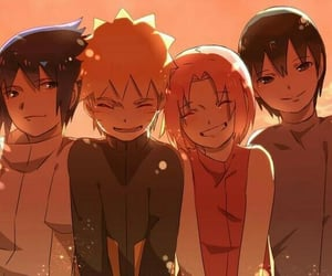 anime, naruto, and team 7 image