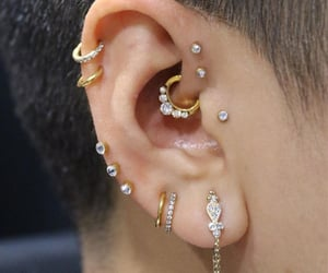 double helix, ears, and jewellery image
