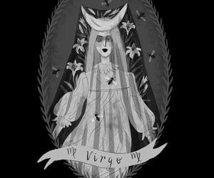 black, illustration, and virgo image