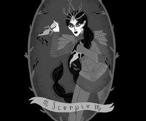 black, illustration, and scorpio image