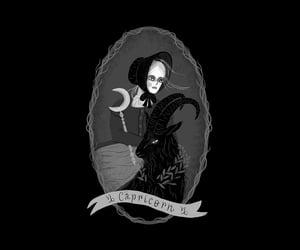 black, illustration, and witchy image