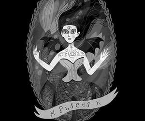 black, illustration, and pisces image
