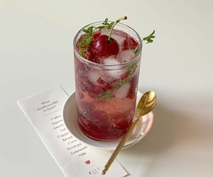 drink, aesthetic, and cherry image
